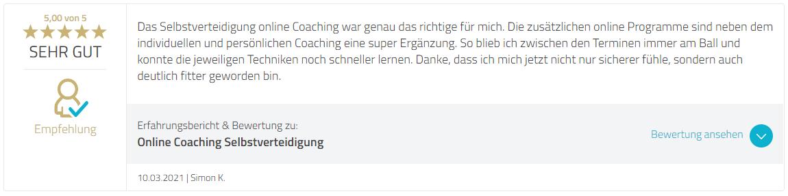 Bewertung Marcel Descy - Strongline Academy - Selbstverteidigung